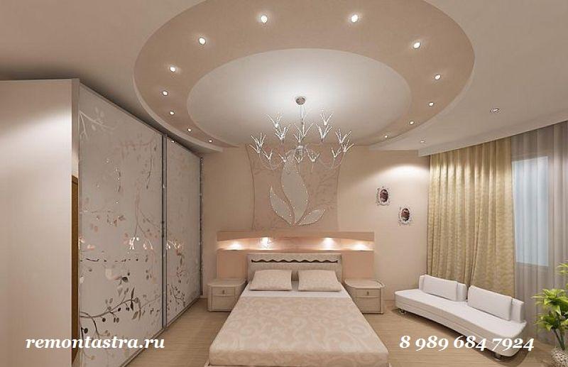 потолки с гипсокартона для спальни фото