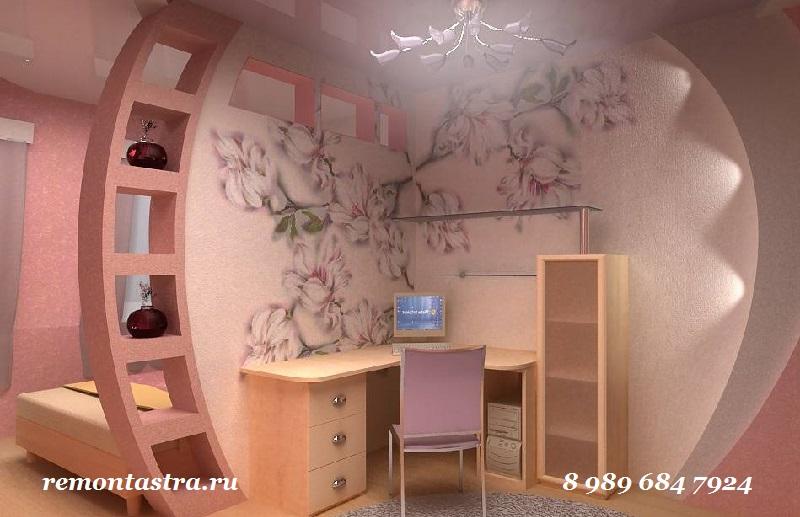Дизайн комнаты гипсокартона